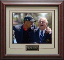 Arnold Palmer & Tiger Woods Wins Arnold Palmer Invitational Photo Framed