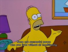 The Simpsons  Name one successful person who ever lived without air conditioning.