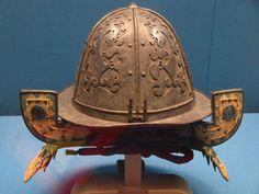 Antique Japanese (samurai) nambam kaburo (southern barbarian helmet), Tokyo National Museum.