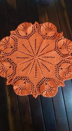 Vintage Handmade Crochet Doily Lace Lacy Doilies Wedding Decoration Home Decor Flower Romantic French Style Crocheted Pineapple Round Pink Thread Crochet, Filet Crochet, Crochet Motif, Crochet Stitches, Crochet Yarn, Crochet Placemats, Crochet Flower Patterns, Crochet Flowers, Crochet Sunflower