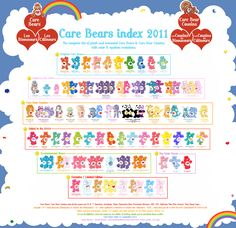 Wow! Every Care Bear in existence! Childhood memories. :)