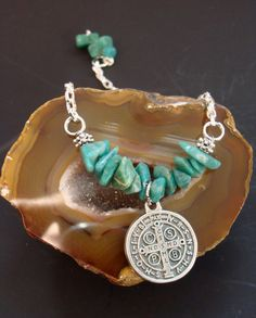Amazonite Harmony Bracelet coupled with St by ParanormalProtection, $20.00