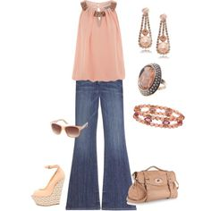 Georgia Peach, created by mcrae on Polyvore  - minus these shoes