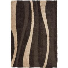 Safavieh Willow Shag Dark Brown/Beige 4 ft. x 6 ft. Area Rug-SG451-2813-4 at The Home Depot, my colors