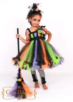 Petti Tutu Dress  Halloween Witch Costume  by Cutiepatootiedesignz, $85.00