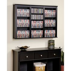 Prepac Triple Floating Wall Storage (Black - Black Finish)