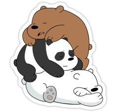 """Sleeping Bare Bears - Mint"" Stickers by pondlifeforme 
