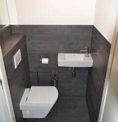 Modern toilet | De Jonge TotaalBouw Bathroom Under Stairs, Wc Bathroom, Bathroom Plumbing, Tiny House Bathroom, Bathroom Layout, Modern Bathroom, Small Toilet Design, Small Toilet Room, Small Space Bathroom