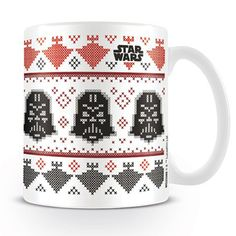 Star Wars Darth Vader Xmas Ceramic Mug Christmas Time, Xmas, Star Wars Merchandise, Star Wars Film, Porcelain, Darth Vader, Tableware, Prints, Noel