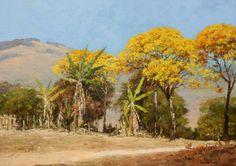 LUIZ PINTO - Ipês floridos - Óleo sobre tela - 60 x 80