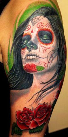 Tattoo Artist - Stefano Alcantara - muerte tattoo