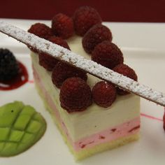 Dessert Recipe of the Month – Strawberry and Passion Fruit Bavarian Mousse Cake _ Award winning  Executive Pastry Chef Albert Cruz shares his specialty recipe _ Recipe Source: http://www.palacasino.com/2012/dessert-recipe-of-the-month-strawberry-and-passion-fruit-bavarian-mousse-cake/