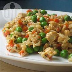 Arroz frito com frango @ allrecipes.com.br