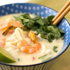 SEAFOOD AND COCONUT NOODLE SOUP
