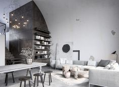 Grey industrial Chicago loft