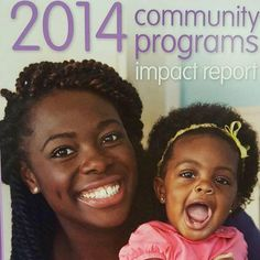 Soror Jennell B. Stewart and her daughter are on the cover of the 2014 March of Dimes Community Programs Impact Report! #REALZETAS #MOD #ZPHIB