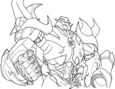 Megatron Transformers Prime Coloring Page