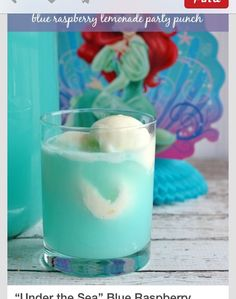 """Under The Sea"" Blue Raspberry Lemonade Sherbert Punch 