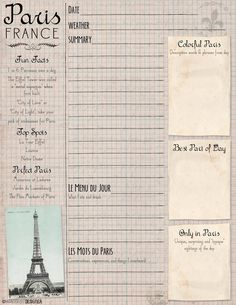 Art on the Go: Free Printable Paris Journal and Sketch Page | The Wanderlust Designer | Creative inspiration & artsy ideas for the traveler.