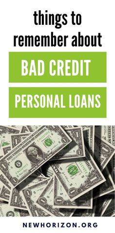 The things you need to know about bad credit loans, most especially if you're planning to apply for one, in the coming months. Apply For A Loan, How To Apply, Need A Loan, Loans For Bad Credit, Hard To Get, Money