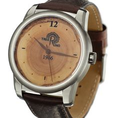 See time the way nature does. This watch was crafted from a 49 year old tree (1966-2015). Find one made from a tree born the same year as you.