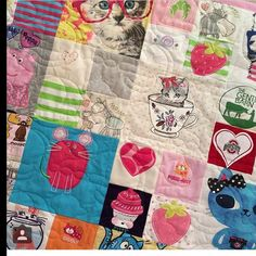 Adorable kitty cat quilt by @creativestitchesdesign but longarm quilted by us! #quilted #quilter #quilting #quilterflorida #quiltingflorida #quiltingService #quiltingServices #quiltersouthflorida #quiltingsouthflorida #quiltingServiceSouthFlorida #quiltin