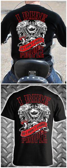 I ride so I don't choke people! Motorcycle Biker T-shirt - ORDER HERE: http://skullsociety.com/products/i-ride-so-i-dont-choke-people-v-twin-engine?variant=9431280133