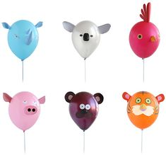"""Air Heads Animal Party Balloons """"living young, Wild, and G!"""