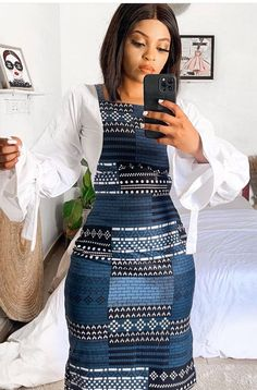 Latest African Fashion Dresses, African Dresses For Women, African Attire, African Clothes, Batik Fashion, Church Outfits, Office Wear, Lace Skirt, High Waisted Skirt