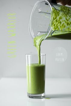 Green Warrior Protein Smoothie — Oh She Glows