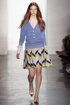 Peter Som Spring 2013 // cute skirt/sweater combo