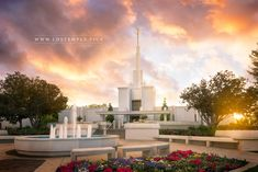Denver Temple Sunset. A stunning sunset at the Denver Colorado Temple. From LDS Temple Pictures.