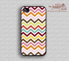 Colorful Chevron iPhone 4 Case iPhone 4s Case by TheAngelDiaries