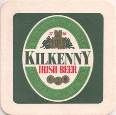 Kilkenny Irish Beer coaster Guinness, Dublin, Sous Bock, Irish Beer, Adirondack Park, Beer Coasters, Beer Brewing, Beverage, Logo