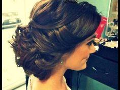 Bridal Updo wedding hairstyle bride