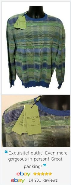 Great resort sweater by Italian Designer Dalmine.  Mens Sz L Lightweight Sweater perfect for Riviera OR Hamptons beach party in the summer, new with tags.