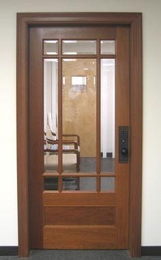 Craftsman Exterior Wood Front Entry Door DbyD-4016