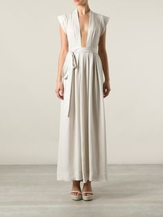 make me / cap sleeves . plunging neckline . side tied waist [ dress . sewing ]