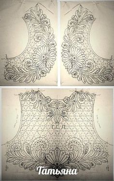 Awesome Most Popular Embroidery Patterns Ideas. Most Popular Embroidery Patterns Ideas. Bead Embroidery Patterns, Bobbin Lace Patterns, Tambour Embroidery, Hand Embroidery Designs, Ribbon Embroidery, Sewing Patterns, Crochet Motif, Irish Crochet, Crochet Lace