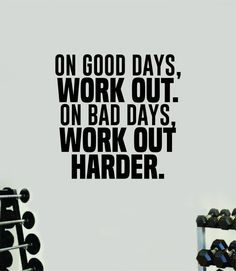 Good Bad Days Work Out Quote Wall Decal Sticker Vinyl Art Wall Bedroom Room Home Decor Inspirational Motivational Sports Lift Gym Fitness Girls Train Beast - vivid blue