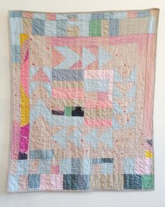 Gina Rockenwagner make high quality, custom fiber and knit art products and home goods. These products include quilts, pillows, hats and more. Quilting Projects, Quilting Designs, Sewing Projects, Quilt Baby, Small Quilts, Mini Quilts, Knit Art, Quilt Modernen, Antique Quilts