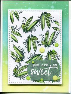 Kesäinen kortti #HeroArts #green #hero arts kits #peas