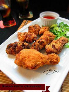 Pollo frito crujiente ( estilo chino )