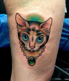 Cat tattoo - Myra Brodsky