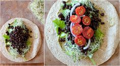 Spicy Black Bean Wraps by thishomemadelife #Wraps #Black_Bean
