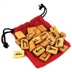 Wood Rune Set By Lo Scarabeo