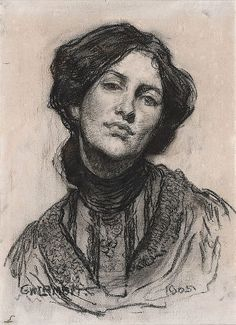 Portrait of Thea Proctor (1905)    George W Lambert    (Russia, Australia 1873–1930)
