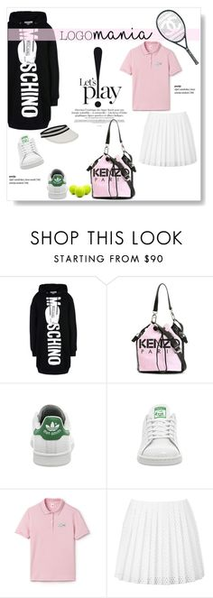 """""""Logomania!"""" by viola279 ❤ liked on Polyvore featuring Moschino, Kenzo, adidas, Chanel, Lacoste and McQ by Alexander McQueen"""