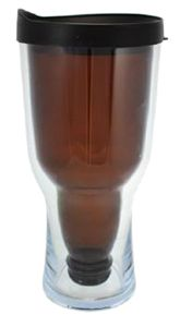 18oz Brew2Go Beer Bottle Tumbler - Unique design with beer bottle inside and acrylic plastic outside! Lids come in a variety of colors. Glass bottle comes in clear, green, and brown!  Great for outdoor concerts, festivals, and picnics! Novel drinkware! Quirky souvenir or promotional item!  #beerbottle #tumbler #glassbottle #promotionaldrinkware