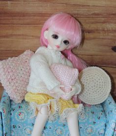 Doll Cushions for BJD or Barbie by SnootyCow on Etsy